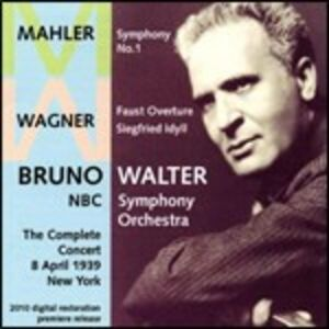 CD Live a New York 1939. Sinfonia n.1 / Idillio di Sigfrido - Faust-Overture Franz Liszt , Gustav Mahler