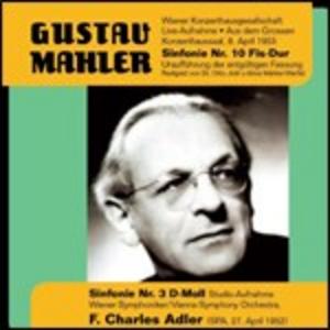 CD Sinfonie n.3, n.10 di Gustav Mahler