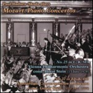 Concerti per pianoforte n.22, n.25 - CD Audio di Wolfgang Amadeus Mozart,George Szell,Horst Stein,Wiener Philharmoniker,Royal Concertgebouw Orchestra,Paul Badura-Skoda
