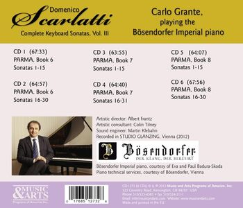 CD Sonate per pianoforte vol.3 di Domenico Scarlatti 1