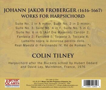 Froberger 1649. Brani per clavicembalo - CD Audio di Johann Jacob Froberger,Colin Tilney - 2