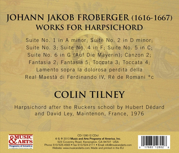 CD Froberger 1649. Brani per clavicembalo di Johann Jacob Froberger 1