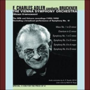 Sinfonia N.1, N.3, N.9 - Ouverture in Sol Minore - Messa N.1 - CD Audio di Anton Bruckner