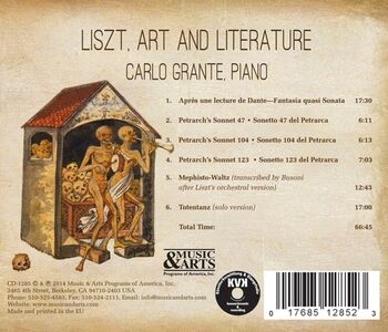 CD Liszt, Art & Literature di Franz Liszt 1