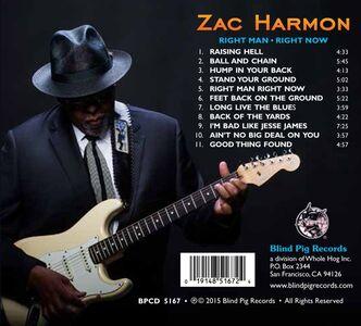 CD Right Man Right Now di Zac Harmon 1