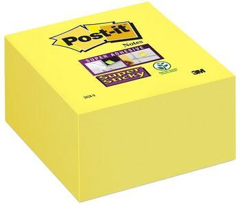 3M Post-it. Cubo 350 Foglietti Super Sticky. Colore Giallo Oro
