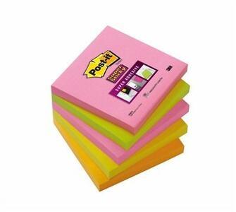 5 Blocchetti Post-it Notes Super Sticky Neon