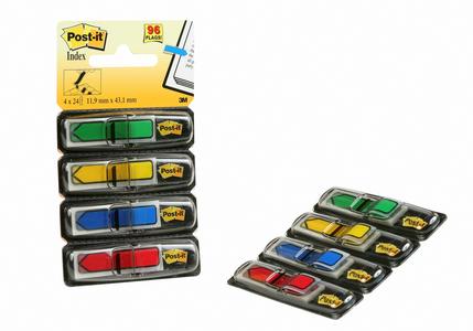 Cartoleria 3M Post-it. Miniset Frecce. 96 Segnapagina in 4 Colori Classici Post-it