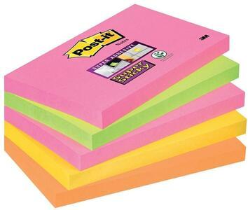 Cartoleria 3M Post-it. 90 Foglietti Super Sticky Colori Cape Town 70x127mm Post-it