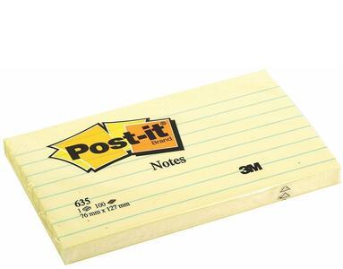 3M Post-it. 100 Foglietti Post-it Colore Giallo Canary 76x76mm