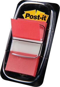 Cartoleria 3M Post-it Index. 50 Bandierine Segnapagina Colore Rosso (25,4x43,6 Mm) Post-it
