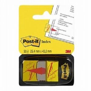 Cartoleria 3M Post-it. 50 Segnapagina Prestampati. Simbolo Firma Post-it