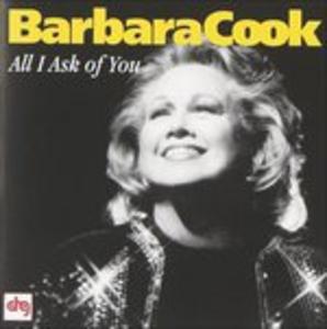 CD All I Ask of You di Barbara Cook