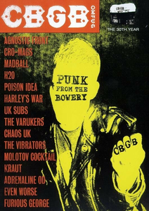 Film CBGB's. Punk From The Bowery