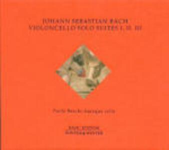 Suites per violoncello n.1, n.2, n.3 - CD Audio di Johann Sebastian Bach,Paolo Beschi