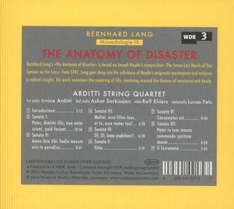 The Anatomy of Disaster. Monadologie IX - CD Audio di Bernhard Lang,Arditti String Quartet - 2