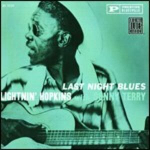 CD Last Night Blues di Lightnin' Hopkins