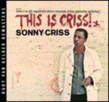 This Is Criss! - Vinile LP di Sonny Criss
