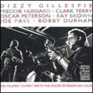 CD The Trumpet Summit Meets the Oscar Peterson Big 4 Oscar Peterson , Dizzy Gillespie , Freddie Hubbard , Joe Pass , Ray Brown , Clark Terry , Bobby Durham