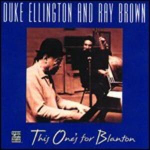 This One's for Blanton - CD Audio di Duke Ellington