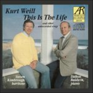 CD This Is the Life e Altre Canzoni Inedite di Kurt Weill