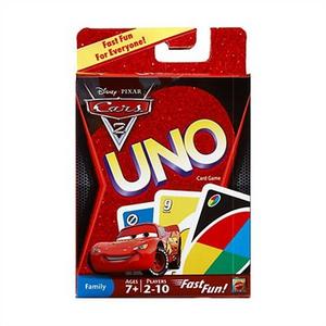Giocattolo Carte da Gioco Uno Cars 2 Mattel