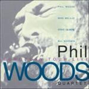 Foto Cover di European Tour Live, CD di Phil Woods, prodotto da Red Records