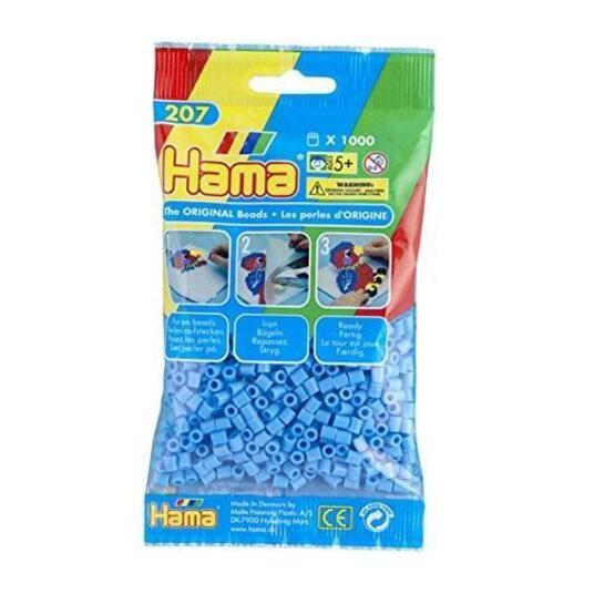 Hama bustina 1000 perline azzurro pastello - 2