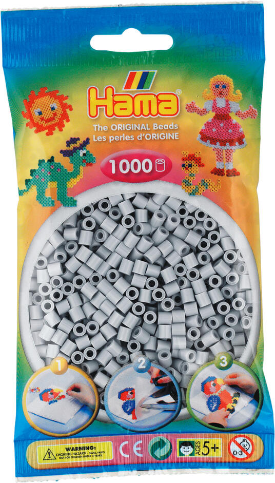 Hama Beads 207-70 profilo Tube bead Grigio 1000 pezzo(i) - 2