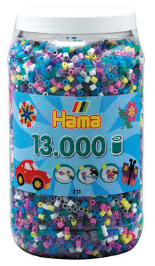 Hama Beads 211-69 profilo Tube bead Multicolore 13000 pezzo(i)