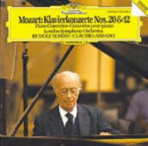 Concerti per pianoforte n.20, n.12 - CD Audio di Wolfgang Amadeus Mozart,Rudolf Serkin,Claudio Abbado,London Symphony Orchestra