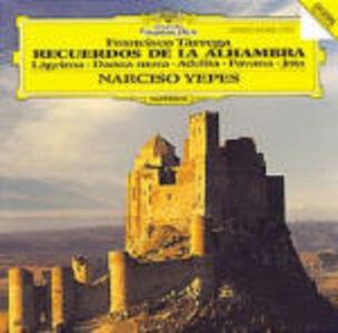 Foto Cover di Recuerdos de La Alhambra, CD di Francisco Tarrega, prodotto da Deutsche Grammophon