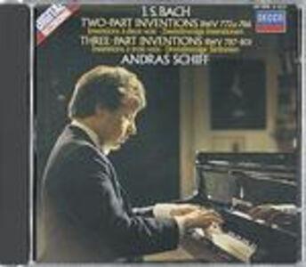 Foto Cover di Invenzioni a due e a tre voci BWV772a, BWV786, BWV787, BWV801, CD di Johann Sebastian Bach,Andras Schiff, prodotto da Decca