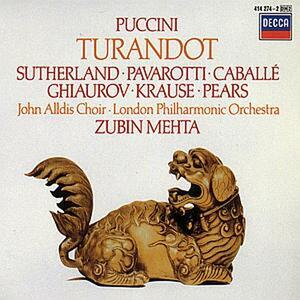 Turandot - CD Audio di Montserrat Caballé,Luciano Pavarotti,Joan Sutherland,Nicolai Ghiaurov,Giacomo Puccini,Zubin Mehta,London Philharmonic Orchestra