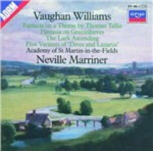 CD Tallis Fantasia - Fantasia On Greensleeves - The Lark Ascending di Ralph Vaughan Williams