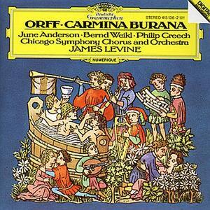 Carmina Burana - CD Audio di Carl Orff,James Levine,Chicago Symphony Orchestra