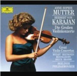 I grandi concerti per violino - CD Audio di Herbert Von Karajan,Anne-Sophie Mutter,Berliner Philharmoniker