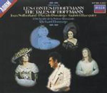 I racconti di Hoffmann (Les contes d'Hoffmann) - CD Audio di Placido Domingo,Joan Sutherland,Jacques Offenbach,Richard Bonynge,Orchestre de la Suisse Romande