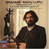 CD Rapsodie op.79 - Intermezzi op.117 - Pezzi per pianoforte op.118-119 Johannes Brahms Radu Lupu