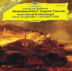 Concerto per pianoforte n.5 - CD Audio di Ludwig van Beethoven,Carlo Maria Giulini,Arturo Benedetti Michelangeli,Wiener Symphoniker