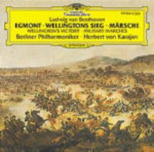 La vittoria di Wellington - Ouverture Egmont - Marce - CD Audio di Ludwig van Beethoven,Herbert Von Karajan,Berliner Philharmoniker