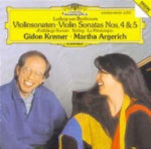 CD Sonate per violino e pianoforte n.4, n.5 di Ludwig van Beethoven