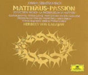 La Passione secondo Matteo - CD Audio di Johann Sebastian Bach,Herbert Von Karajan,Christa Ludwig,Gundula Janowitz,Dietrich Fischer-Dieskau,Peter Schreier,Berliner Philharmoniker