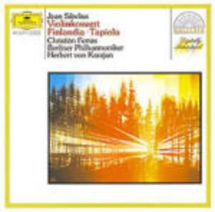 Concerto per violino - Tapiola - Finlandia - CD Audio di Jean Sibelius,Herbert Von Karajan,Berliner Philharmoniker,Christian Ferras
