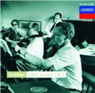 Suites per violoncello n.1, n.2 - Sonata per violoncello - CD Audio di Benjamin Britten,Mstislav Rostropovich