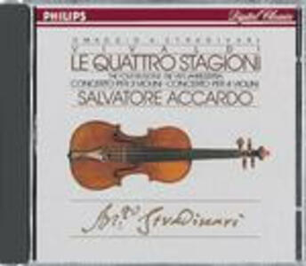 Le quattro stagioni - Concerti per 3 e 4 violini - CD Audio di Antonio Vivaldi,Salvatore Accardo,Solisti di Napoli