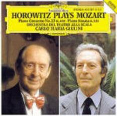 CD Concerto per pianoforte n.23 - Sonata per pianoforte K333 Vladimir Horowitz Wolfgang Amadeus Mozart Carlo Maria Giulini