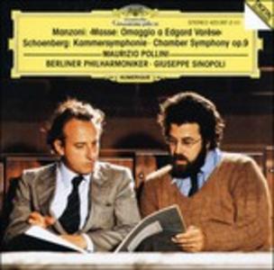 CD Masse. Omaggio a Edgard Varèse / Sinfonia da camera op.9 Arnold Schönberg , Giacomo Manzoni