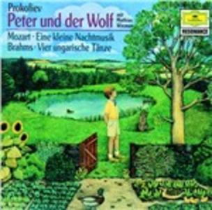 CD Pierino e il lupo / Eine Kleine Nachtmusik / 4 Danze ungheresi Johannes Brahms , Wolfgang Amadeus Mozart , Sergei Sergeevic Prokofiev