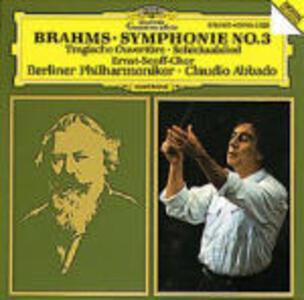Sinfonia n.3 - Ouverture Tragica - Schicksalslied - CD Audio di Johannes Brahms,Claudio Abbado,Berliner Philharmoniker